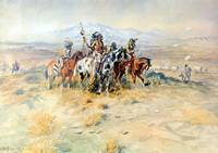 Intercepted Wagon Train (1898) by Charles Russell