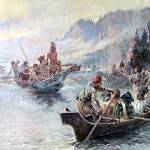 """Lewis and Clark on the Lower Columbia (1896)"" by ArtLoversOnline"