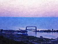Aerial Lift Bridge-Oil Painting Print