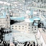 """Salzburg courtyard"" by JCarmen"