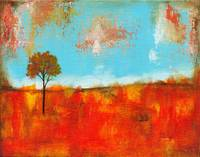 Rapture, Abstract Landscape Lone Skinny Tree Fall
