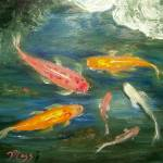 """Koi Fish Pond"" by mazz"
