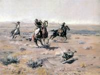 Roping a Wolf (1904) by Charles Russell