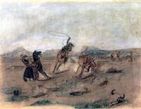 Roping the Renegade (1883) by Charles Russell