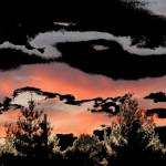 """Black and White Sunset"" by cheesekid29"