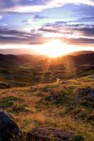 Sunset Over Hardknott Pass