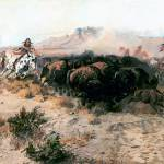 """The Buffalo Hunt no. 26 (1899) by Charles Russell"" by ArtLoversOnline"