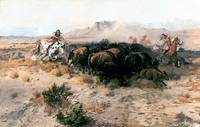 The Buffalo Hunt no. 26 (1899) by Charles Russell