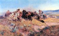 Buffalo Hunt no. 40 (c. 1919) by Charles Russell