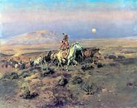The Horse Thieves (1901) by Charles Russell