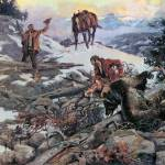 """The Price of His Hide (1915) by Charles Russell"" by ArtLoversOnline"