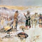 """The Wolfers Camp (1906) by Charles Russell"" by ArtLoversOnline"