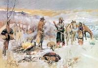 The Wolfers Camp (1906) by Charles Russell