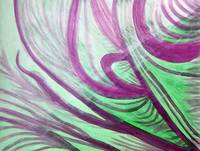 Purple Green Healing Waves