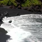 """Hawaii Black Sand Beach"" by lisad"