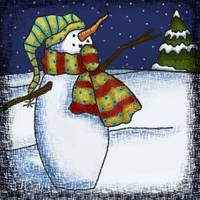 Whimsical Snowman 1