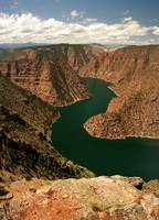 Flaming gorge from red canyon overlook