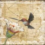 """Hummingbird & Wildflower"" by naturespaintbox"