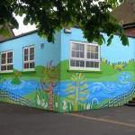 """Graffiti meets Landscape Killamarsh Junior School"" by sueg355"