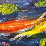 """Koi Fish Swimming"" by mazz"