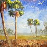 """Cabbage Palm Trees"" by mazz"