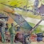 """port de Jakarta / Harbor of Jakarta indonesia"" by geronimo"