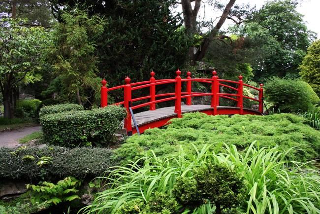 Stunning japanese garden bridge artwork for sale on fine for Garden pond bridges sale