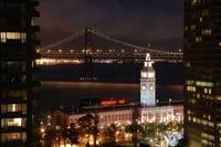 Night falls over the Embarcadero