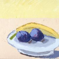 banana and plums Art Prints & Posters by blupoppies blupoppies