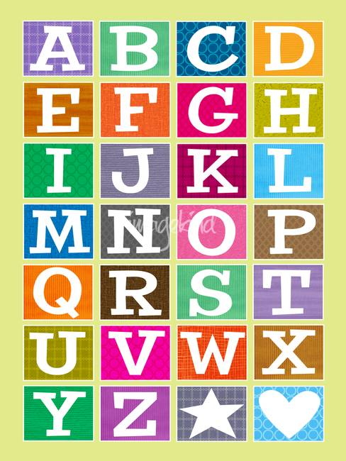 Alphabet Starts With Abc Abc Alphabet Poster ""