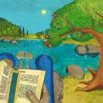 """Psalm 1 in Bible - A man reading Psalm 1 in Bible"" by vision"