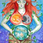 """Grounded in the Goddess (c)2009"" by LaurenCurtis"