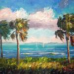 """Cabbage Palms along the River"" by mazz"