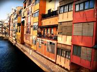 Historic Girona River Houses
