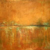 """Contemporary Landscape Golden"" by Anne Cicero"