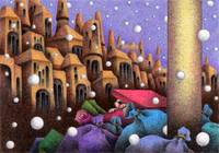 Fantasy Picture - Town where it snows