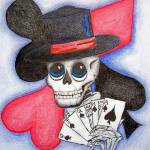 """poker skull"" by candyinkart"