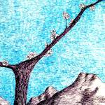 """""""lone tree among mountains"""" by candyinkart"""