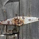 """Hinge on Old Barn Wood"" by angelandspot"