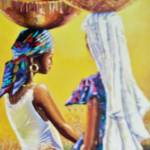 """Ladies carring calabash"" by artfrica"