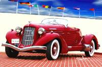 1935 Red Auburn Model 851
