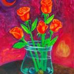 """five happy orange flowers"" by SageRose"