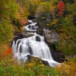 """Cullasaja Falls - Autumn Waterfall"" by DAPhoto"