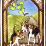 """""""Beagle Nouveau"""" by PegLozier"""