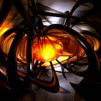 """Birth of a Sun Abstract"" by AlexButler"