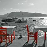 """Taverna Orange Chairs"" by artforcancer"