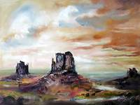 Monument Valley Oil Painting by Ginette