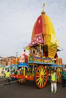The Rrath [chariot], Hare Krishna rally on Hove se