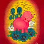 """Pink Toy Elephant - picture of a pink toy elephant"" by vision"