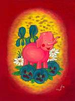 Pink Toy Elephant - picture of a pink toy elephant